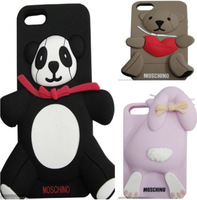 New Design Brand Panda Rabbit Love-heart Bear Silicon Soft Back Case For Apple iPhone5