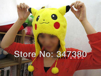 New Sale Pokemon Pikachu Poly Plush Hat Pokemon Hat as children's best gifts Free Shipping