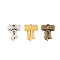 (125PCS) Accessories bow Charms(2020#)12*15mm