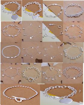 A21 // Big promotion popular  Bracelets Chain,  Модный 925 jewelry silver plated ...