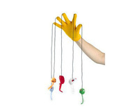 5 Refers Funny Cat Mouse Pendant Gloves (Color Random) Interactive Cat Toy