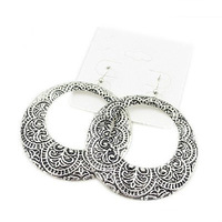 Min. order 12 pieces mix available,Classic retro silver earring,1.13818.Free shipping