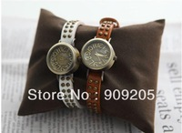 Fashion vintage table roman numerals scale of the female form cowhide belt punk trend of the watch