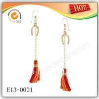 2013 Fashion Dangle Earring in Mulitcolor Cotton 20pcs/lot
