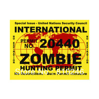 Custom printed zombie stickers