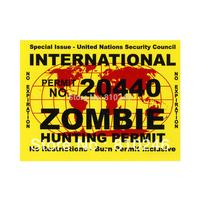 Custom printed zombie stickers