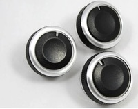 Volkswagen Lavida Sagitar New Bora Golf 6 Car Interior Air Conditioning Knobs Aluminum Paste 3pcs/Lot