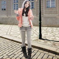 2012 plus velvet faux two piece one-piece dress legging pants thickening health pants