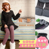 Goatswool sesame mud bamboo charcoal fiber double layer thermal legging thick ankle length trousers socks