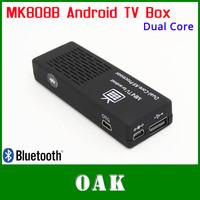 Free Shipping - MK808B Dual-core Android TV  Box/Mini PC RK3066 1GB+8GB Support Bluetooth/WiFi/1080P