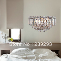 Free Shipping 110-240V Luxury K9 Crystal Wall Lamp For Bedside And Corridor With 3 Lights G9 Bulbs Included Fast Delivery Time