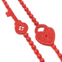 Free Shipping 2013 Hot Sale 10 Colors Lock & Key Shape best quality Italy Lace Bracelet fashion Jewelry 100PCS/LOT
