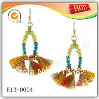2013 Fashion Design Natural Stones Beads Drop Earring 20pcs/lot