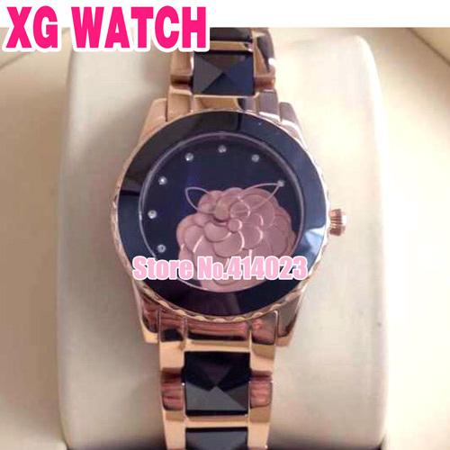 Última flor da camélia Relógios Para Meninas Top Quality Cerâmica Relógios de Luxo Quartz Relógio de pulso Lady Natal China Atacadista(China (Mainland))