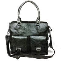 New Vintage Casual Genuine Leather Oil Wax Leather Cowhide Men Handbag Handbags Shoulder Bag Messenger Bag Bags For Men 004A