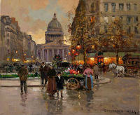 free shipping The Pantheon Edouard Leon Cortes 100% Hand Painted Oil Painting Repro Museum Quality  Gift