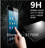Free shipping for iPad 4 Tempered glass Screen protector film