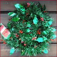 2014 NEW  12pcs/lot Christmas Tinsel Party Decoration Garland Wreath 180cm Christmas Decorations Xmas Tree Decor Home One Dozen