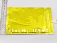 foil grip seal  zip lock bags foil flat  double face gold ziplock bags 16X24cm/ 6.2x9.4 inch 100pcs