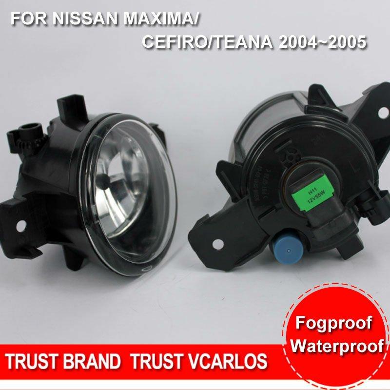 Free Gifts + Free Shipping Car Fog Lamp for NISSAN MAXIMA + NISSAN CEFIRO + TEANA 2004~2005 Clear Lens PAIR SET + Wiring Kit(China (Mainland))