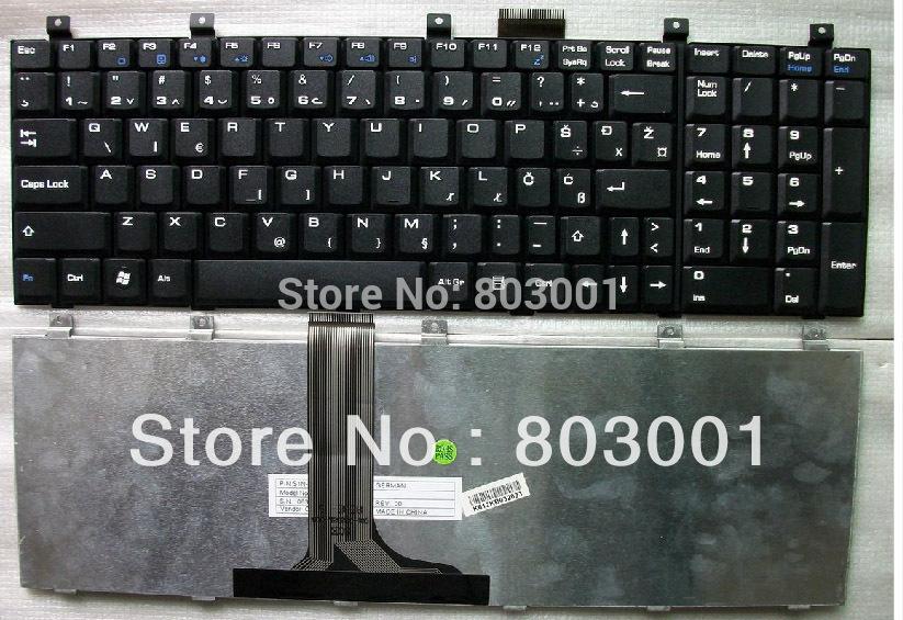 Hot sale laptop computer keyboard for MSI MS-163P LG F1 E50 CX600 CR700 UK-CROATIA(China (Mainland))