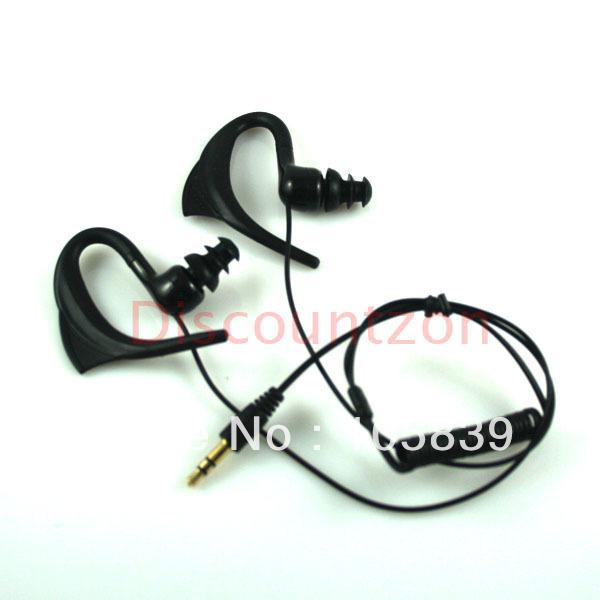 in-ear Earhook Waterproof earphone/headphone for Original Speedo Aquabeat MP3 Player 3.5mm plug free shipping(China (Mainland))