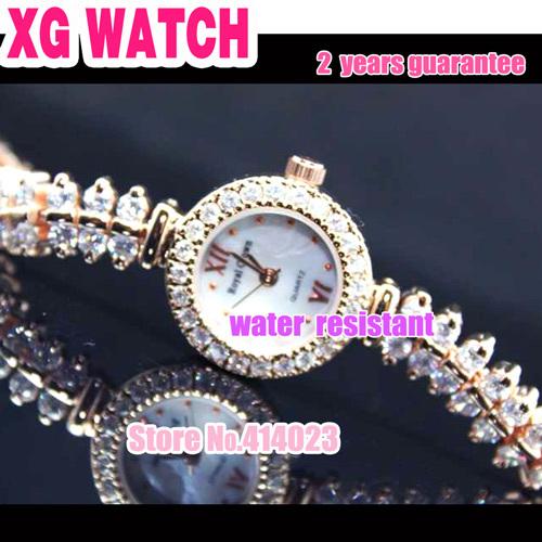 2013 mais recente Moda Meninas Relógios Ouro Fishbone Pulseira Relógio de luxo Marca Top Qualidade Atacadista bonito Assista Natal China(China (Mainland))