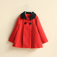 free shipping OW3105  Girls  children winter wool coat wollen wear