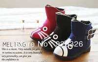 Winter new children girls cute cats pattern cotton boots boots Martin boots free delivery