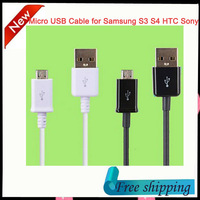 1m Micro USB Data Sync Charging Cable for Samsung Galaxy S2 S3 S4 HTC LG Sony Nokia Blackberry Charger Adapter free shipping