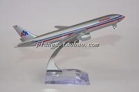 Freeshipping Model b777-200 united air american 16cm metal gift model Toys for children&boys&Kids