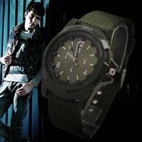 New 5pcs Men Military Green Sports Fashion Cool Army Watch Quartz Watch Wristwatch Xmas Gift