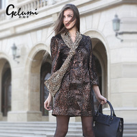 Meters hot-selling 2013 autumn seiko print genuine leather clothing plus size leather trench medium-long women's leather flower