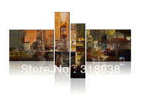 Free shipping/ Framed hand Hand-painted Abstract  Group Oil Painting on Canvas Art  home decoration /AF060