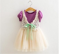 Free shipping 1PCS 2014 new arrival fashion lace chiffon children princess dress summer dresses for girls