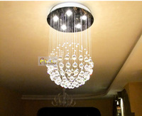 "H31.4 "" Modern  Spherical Crystal Chandelier Lamp Light Fixtures included Led Light Source Guaranteed100%+Free shipping!"
