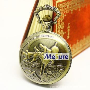 Free Shipping Wholesale Watch Dropship 2013 Hot Sale Bronze Vintage Horse Racing Fashion Quartz