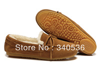 Free shipping 2013 new women's fashion plush flats shoes casual winter plus wool shoes driving shoes sewing suede shoes 36-39