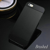 100% New Brushed Aluminum case for iPhone 5 5S 5G Luxury Hard Back Metal Aluminium Cover
