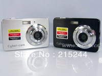 "Hot!! 2013 newest 2.7"" Digital camera with 8X digital zoom + 5.0MP CMOS(MAX 12MP) + Rechargable Li-Battery + Auto face tracking"