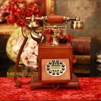 Bookpass songzanganbu antique telephone solid wood antique telephone quality fashion vintage telephone