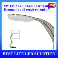 8W dimmable LED table lamp S shape