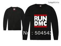 100% cotton men's RUN DMC thin sweater full sleeve shirt streetwear 4 colors