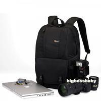 "Genuine Lowepro Fastpack 250 DSLR Camera Photo 15"" Laptop Bag Backpack Rucksack for Canon Nikon Waterproof + Rain Cover Black"