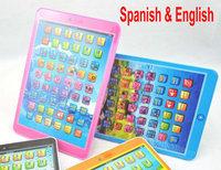 White pink Blue Orange Mini Spanish & English Language Kids Children Educational Toys Learning Machine