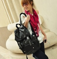 2014 New Fashion Women's PU Leather Backpack Travel School Big Bag in Stock