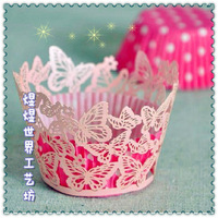 Beautiful cupcake wrapper in packaging paper cake 12 bag