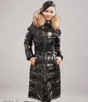 2013Years High-quality down jacket Ladies Long Slim fashion free shipping