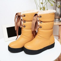 Fashion New Designer Women's Winter Warm Fur Shoes 2013 Platforms Half Knee High Snow Boots for Women Wholesale XB709