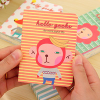 Free Shipping Kawaii Cartoon Animal Cover Color Page Mini Notebook Memo Pad Pocket Notepad Wholesale